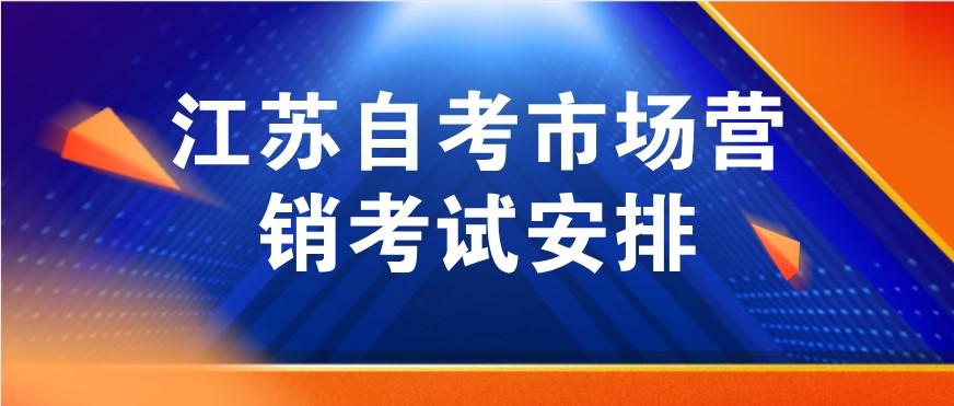2021年1月江苏自考市场营销A1020207考试安排