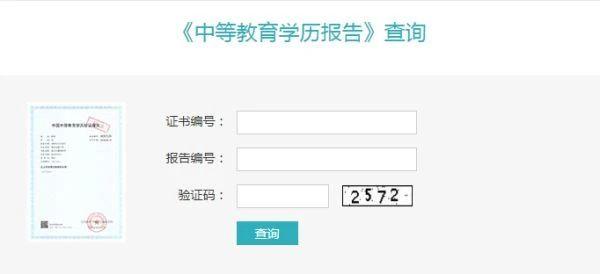 学信网:中专学历可查询